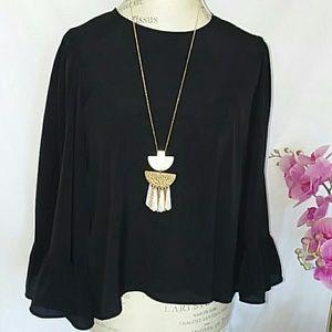 ZARA long bell sleeves size S.